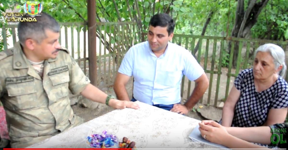 Şəhid Rahib Nəriman oğlu Quliyev ailə üzvləri ziyarət olunub